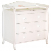 Audrey Classic Nursery Furniture White 3-drawer Change Table