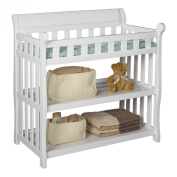 Premium Changing Table Baby Furniture for Nappy Change in Delta Modern White Solid Wood Design