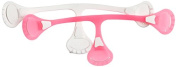 Snappi Cloth Nappy Fastener, Dayglo Pink Plus White, Size 1