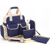 Orgrimmar Multifunction Nappy Tote Bags Baby Nappy Bag Larger Capacity Mummy Handbag Backpack (Blue) ¡