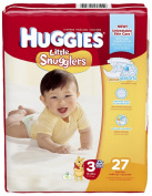 Huggies Little Snugglers Nappies - Size 3 - 27 ct