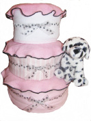 Create-A-Gift Girl Dalmatian Baby Cake, Pink/Black/White