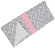Caught Ya Lookin' Baby Changing Pad, Pink Quatrefoil