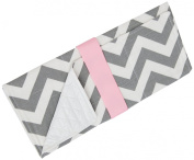 Caught Ya Lookin' Baby Changing Pad, Grey/White/Pink