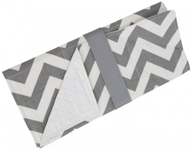 Caught Ya Lookin' Baby Changing Pad, Grey/White