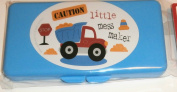 Blue Caution Little Mess Maker Baby Wipes Case