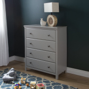 South Shore Cotton Candy 4-Drawer Chest, Soft Grey