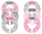 Mumsy Goose Nursery Closet Clothes Sizers Baby Girl