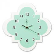 Trend Lab Wall Clock, Mint Quatrefoil