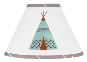 Aqua Blue and Grey Outdoor Adventure Teepee Baby, Childrens Lamp Shade