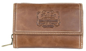 Women's Great Quality Natural Durable Glazed Genuine Leather Wallet Pedro