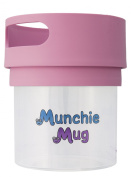 Munchie Mug Snack Cup 350ml Pink