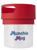 Munchie Mug Snack Cup 350ml Red