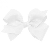 Wee Ones Baby Girls' Small Classic Grosgrain Hair Bow on a WeeStay Clip w/Plain Wrap