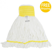 1pc 500g520ml SunnyCare #23503-1 White Microfiber Loop-End Wet Mop
