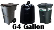 242.3l Super Big Mouth Trash Bags 3-Pack Plus 1 Free Rubber Tie Down Band