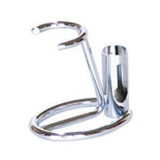 Chrome Shaving Brush and Razor Stand Compact From GBS