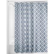InterDesign Trellis Shower Curtain, 180cm x 180cm , Dusk