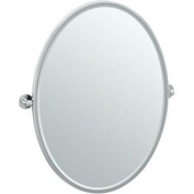 Gatco 4419FLG Cafe Framed Large Oval Mirror