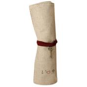 Sunward New Convenient Pastorable Roll up Canvas Cosmetic Storage Bag Pen Bag