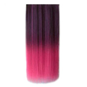 Sunward Ombre Dip-dye Wig Colour Clip In Hair Extension Length Straight For Fashion Women