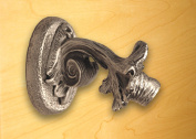 Acanthus Leaf Towel Hook in Satin Pewter Finish