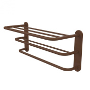 Allied Brass HTL-3-ABZ 3-Teir Hotel Shelf/Towel Rack, Antique Bronze