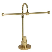 Allied Brass TR-52-SBR Tribecca Collection 2-Arm Table Guest Towel Holder, Satin Brass