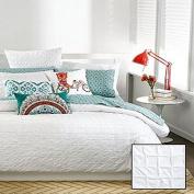 Bar III Box Pleat White Twin Comforter