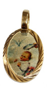Baptism Mini Medal - Bautizo Medalla 14k Gold Plated Medal with 46cm Chain