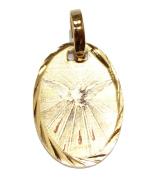 Holy Spirit Dove Mini Medal - Espiritu Santo Pendant 14k Gold Plated Medal with 46cm Chain