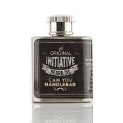 Initiative Beard Oil Flask | Natural, Citrus Scent