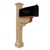 Mayne 5846-CL Charleston Plus Mailbox Post, Clay
