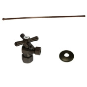 KINGSTON BRASS KTK105P Toilet Supply Kits Combo 1.3cm IPS Inlet, 1cm Compression Outlet, Oil Rubbed Bronze