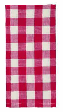 Red Cotton Checker Dish Towel - Set of 6
