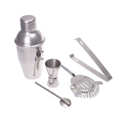 TOPCHANCES 5 Pieces Stainless Steel Cocktail Shaker Mixer Drink Bartender Kit Bars Set Tools