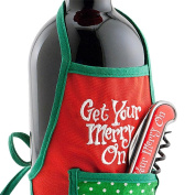 Christmas Wine Gift Set Christmas Corkscrew with Wine Bottle Apron