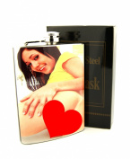 240ml Stainless steel Hip Flask With screw-on lid To Prevent Missing Cap Hot Girl Design Wrapped 8F052915-3