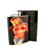 240ml Stainless steel Hip Flask With screw-on lid To Prevent Missing Cap Hot Girl Design Wrapped 8F052915-29
