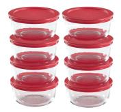 Pyrex 16-Piece Glass Food Storage Set with Lids