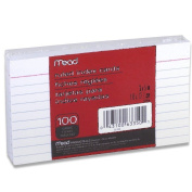 24 Pack of Mead 7.6cm x 13cm Index Cards, Ruled, 100 Count, White (63350) = to 2400cards
