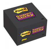 Post-it Super Sticky Notes, 7.6cm x 7.6cm , Black, 5-Pads/Pack
