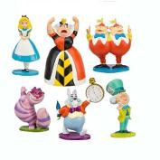 6 Pcs 6.1cm Alice in Wonderland Figures Toys Play Set