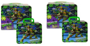 TMNT Ninja Turtle Lunch Tin Box with 48pc Puzzle X 2