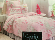 Cynthia Rowley Jovie Cottage Pink Twin Quilt & Sham Set