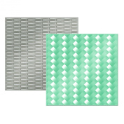 American Crafts We R Memory Keepers Next Level Embossing Folder, Woven