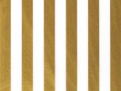 Gold & White Stripe Tissue Paper 24 Sheets 50cm X 80cm