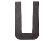 Paper Mache Letter U by Craft Pedlars Black 20cm .