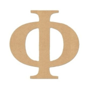 "15cm LETTER ""PHI"" GREEK FONT Unfinished Wood/Wooden Letter DIY Home, COLLEGE, SOROITY AND FRATERNITY Decor USA Made"