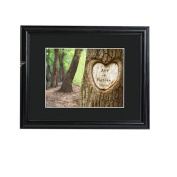 Personalised JDS Gifts Tree of Love Print with Wood Frame
